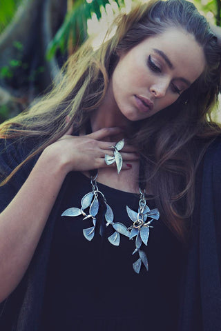 Swan necklace and ring by Ghost and Lola
