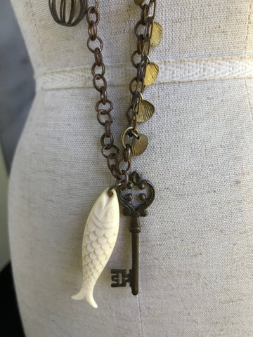 Talisman Necklace | Vintage Jewelry | Bohemian Luxe Design | Artisan Jewellery