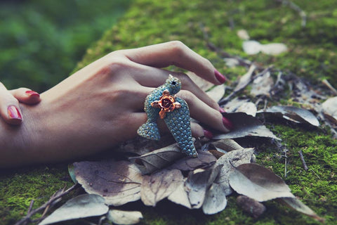 Blue Skydancer Ring by Ghost and Lola Vintage