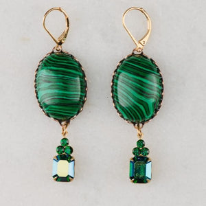 malachite earrings | Vintage jewellery | Handmade in Byron Bay