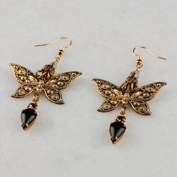 Australian Made | Butterfly Earrings | Vintage Sustainable Jewelry | Gold