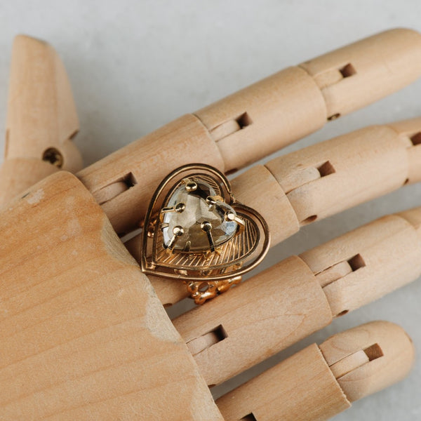 Heart Crystal Ring | Vintage Jewellery | Handmade in Australia | Chic