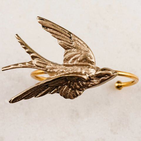 Swallow Song Cuff- Gold