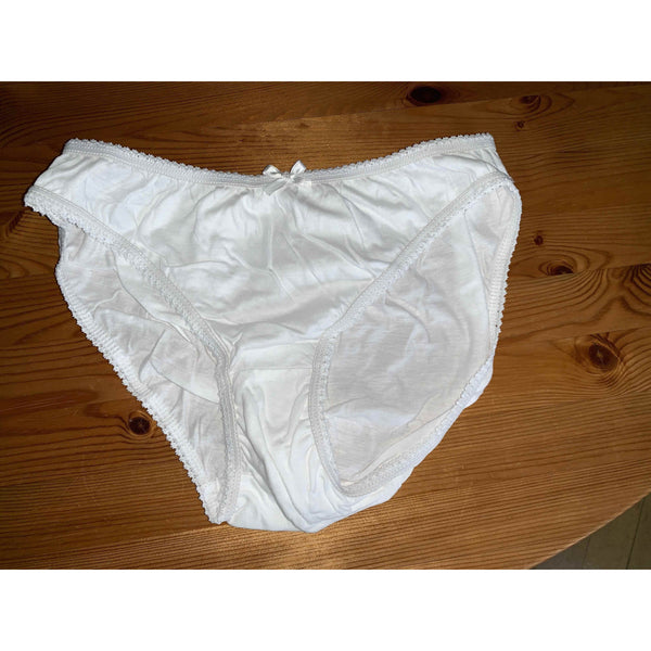 Lot de 2 culotte confortable en coton blanc