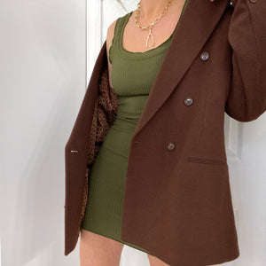 Vintage Coco Double Breasted Boxy Blazer