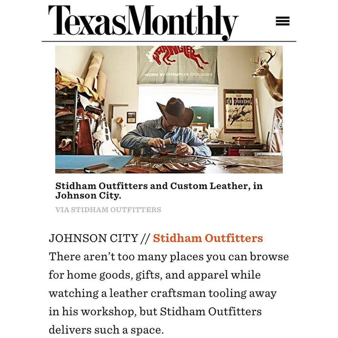 Tip of a hat from Texas Monthly