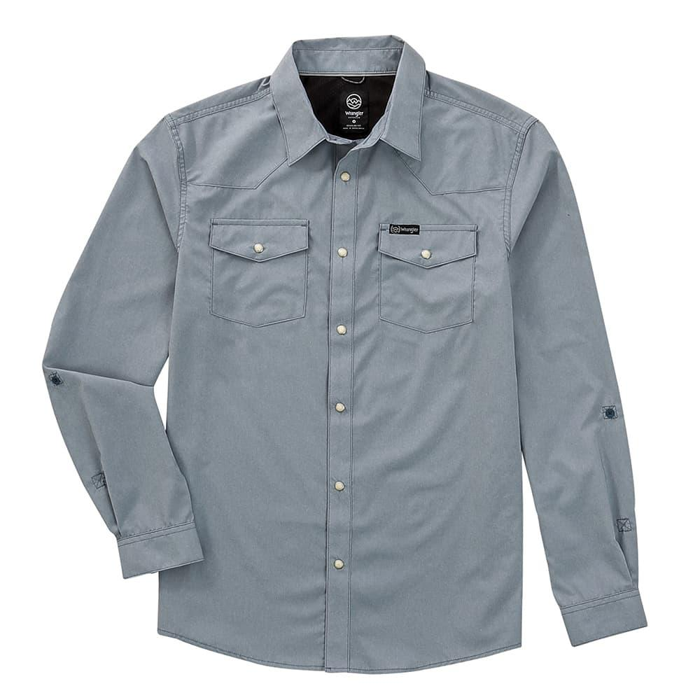 Wrangler RW Blue Fishing Shirt