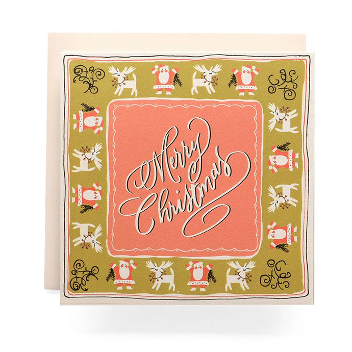 Handkerchief Christmas Card
