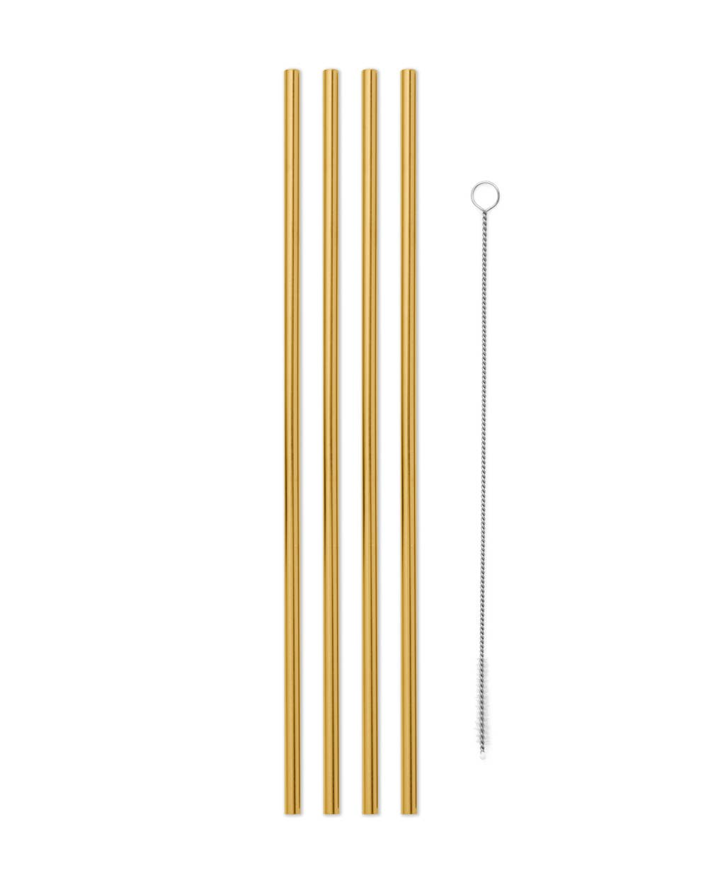 Porter 10in Metal Straws, Set of 4 with Cleaner