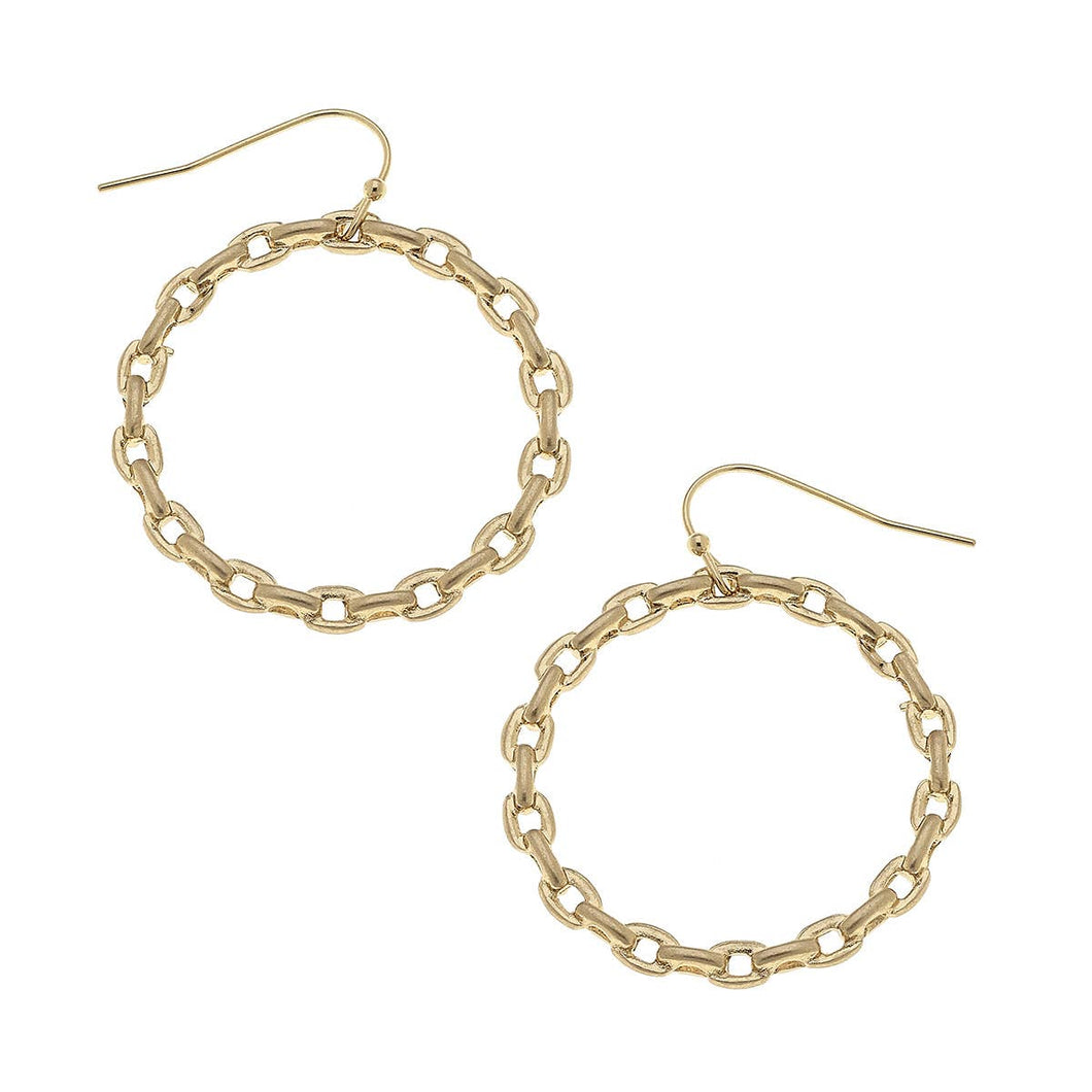 Allegra Hoop Earrings In Worn Gold