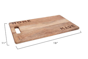 "Wood Cutting Board ""Home Made"""