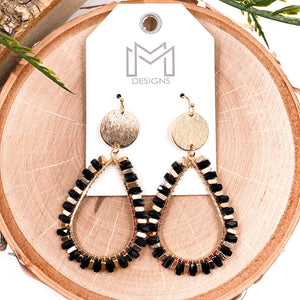 Declan Earrings - Black