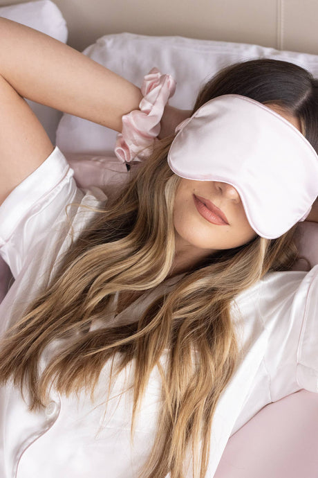 Blush Sleep Mask & Travel Bag