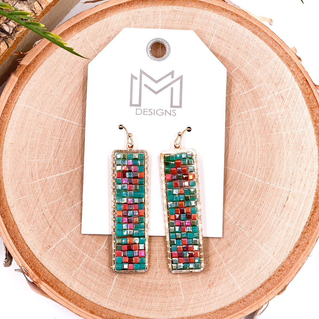 Cruz Earrings - Teal Multi