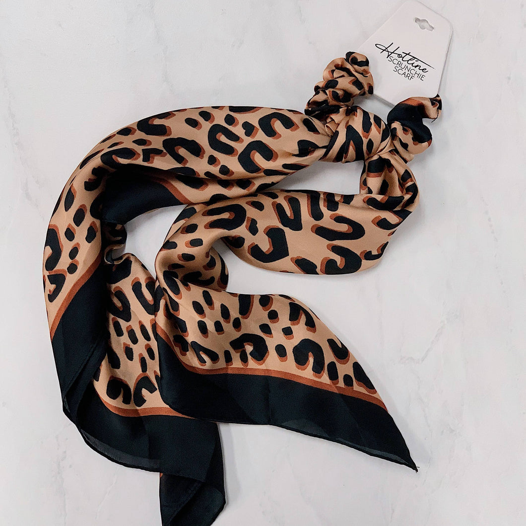 Leopard Scrunchie Scarves