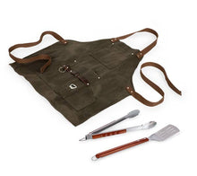 Load image into Gallery viewer, Waxed Canvas BBQ Apron