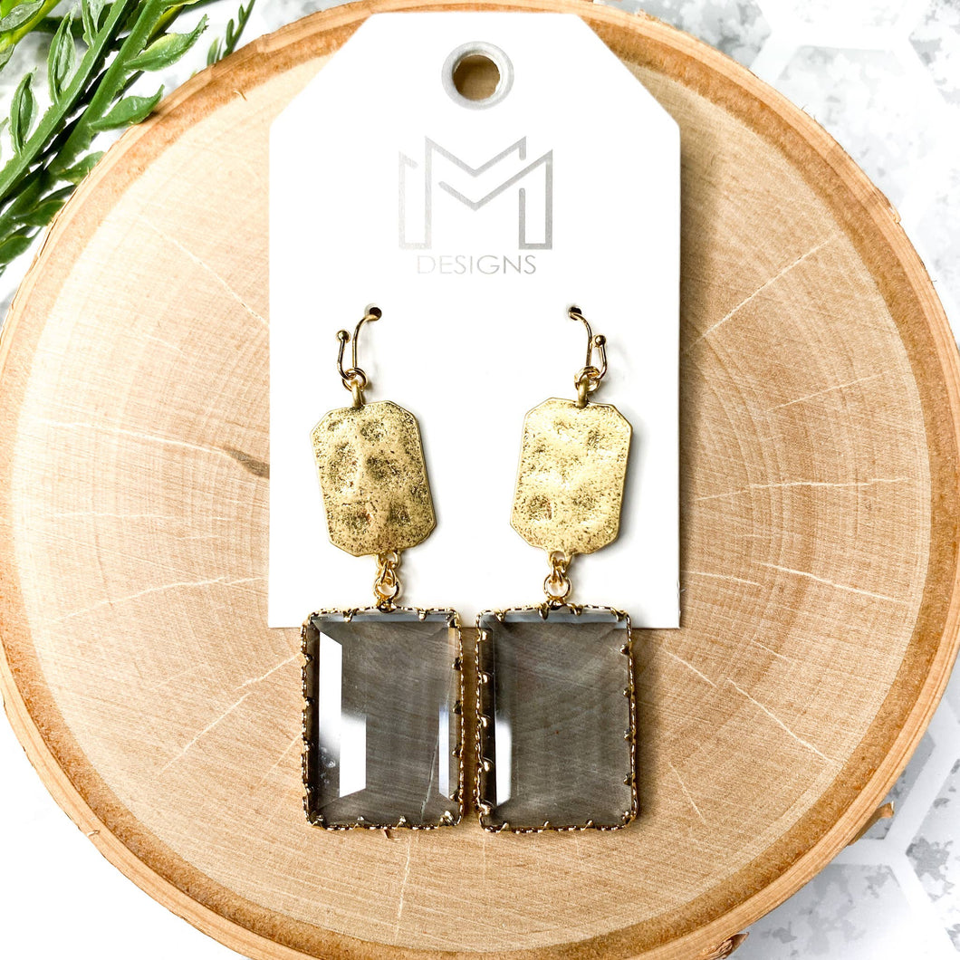 Willow Earrings - Grey