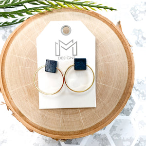 Mix Mercantile Designs - Clay Earrings - Black
