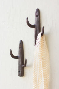 Saguaro Cactus Cast Iron Hook