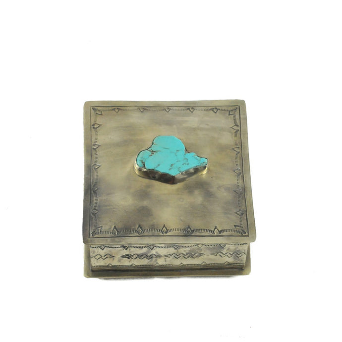 Stamped Box with Turquoise Slab