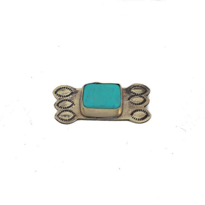Tie Pin with Turquoise