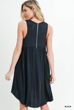 Load image into Gallery viewer, Black Smocked Dress