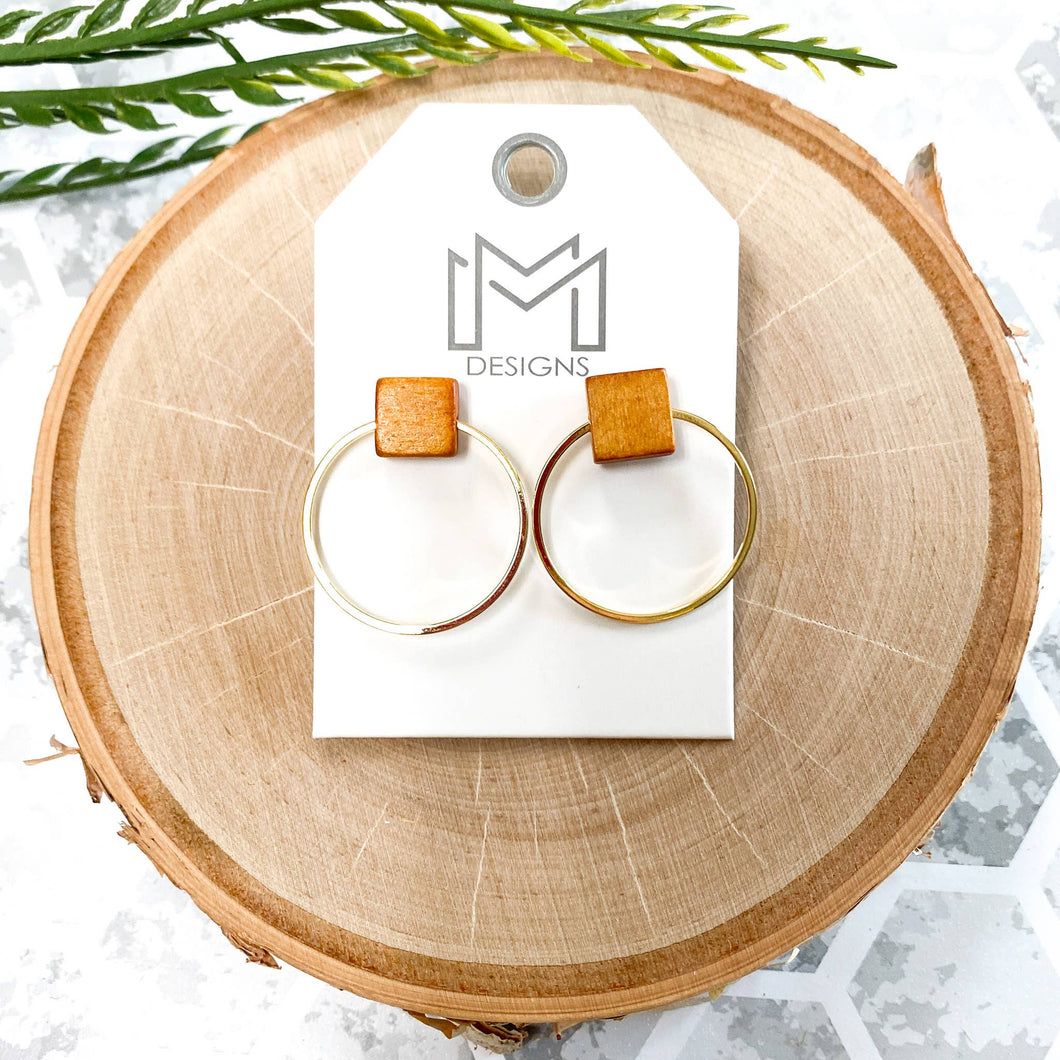Mix Mercantile Designs - Clay Earrings - Honey