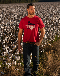 Red Wrangler Texas Tee
