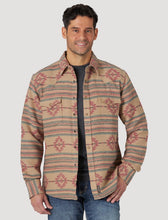 Load image into Gallery viewer, Wrangler Jacquard Brushed Flannel Snap Shirt