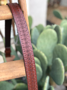 "39"" Brown Geometric Belt"