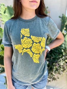 Yellow Rose Burnout Tee