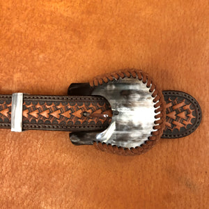 Cowhorn Rawhide braided Buckle 1""