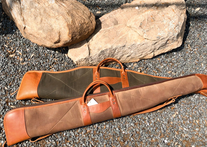 Waxed Canvas & Leather Gun Cases