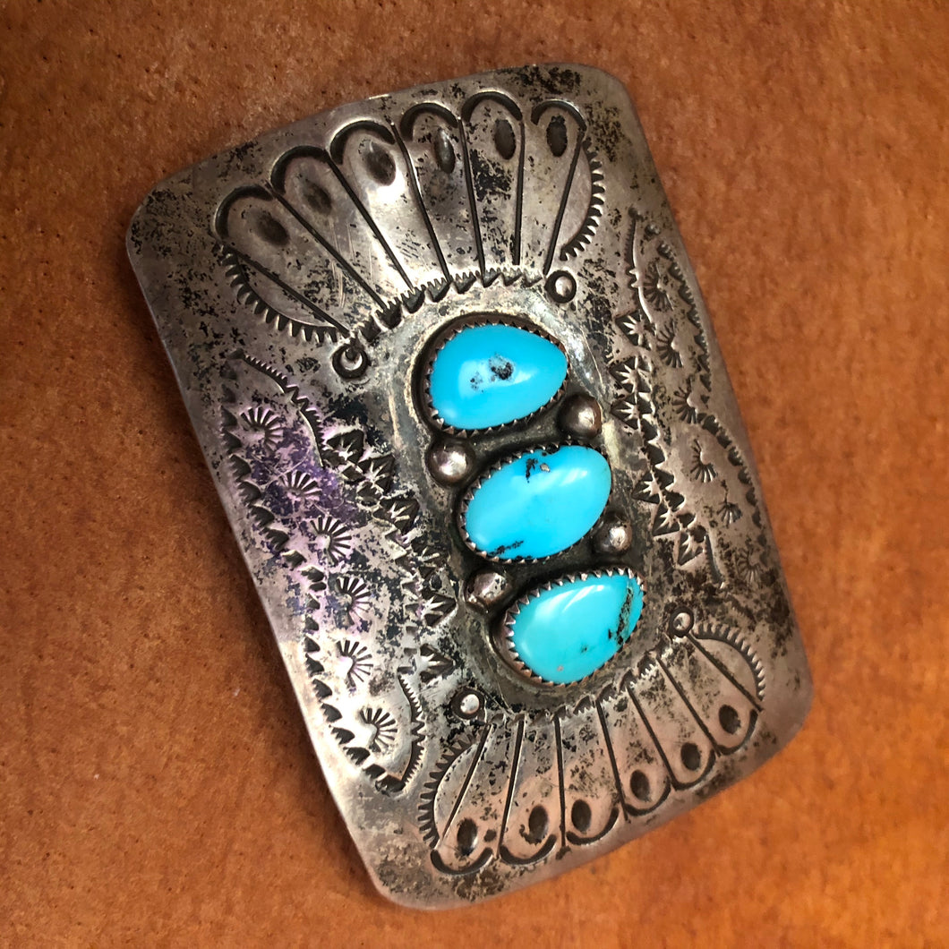Turquoise stone buckle