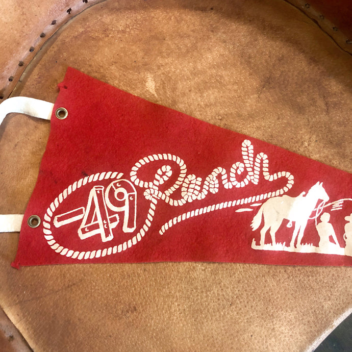 Vintage dude Ranch Pennant