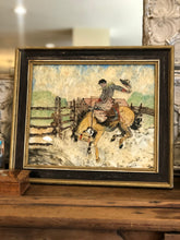 Load image into Gallery viewer, Cowboy Mixed Media Art