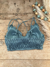 Load image into Gallery viewer, Teal Grey Bralette