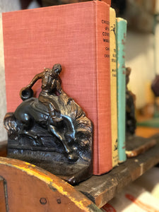 Bucking horse bookends