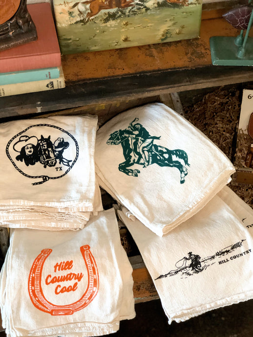 Hill Country Tea Towels - multiple options