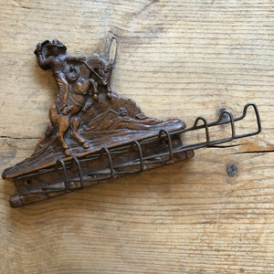 Vintage Bucking Horse Tie Rack