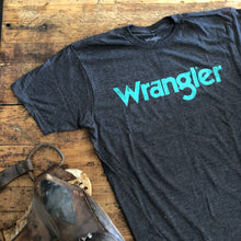 Load image into Gallery viewer, Wrangler Tee - Grey & Turq