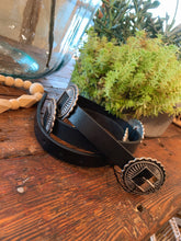 Load image into Gallery viewer, Black Boho Concho Belt