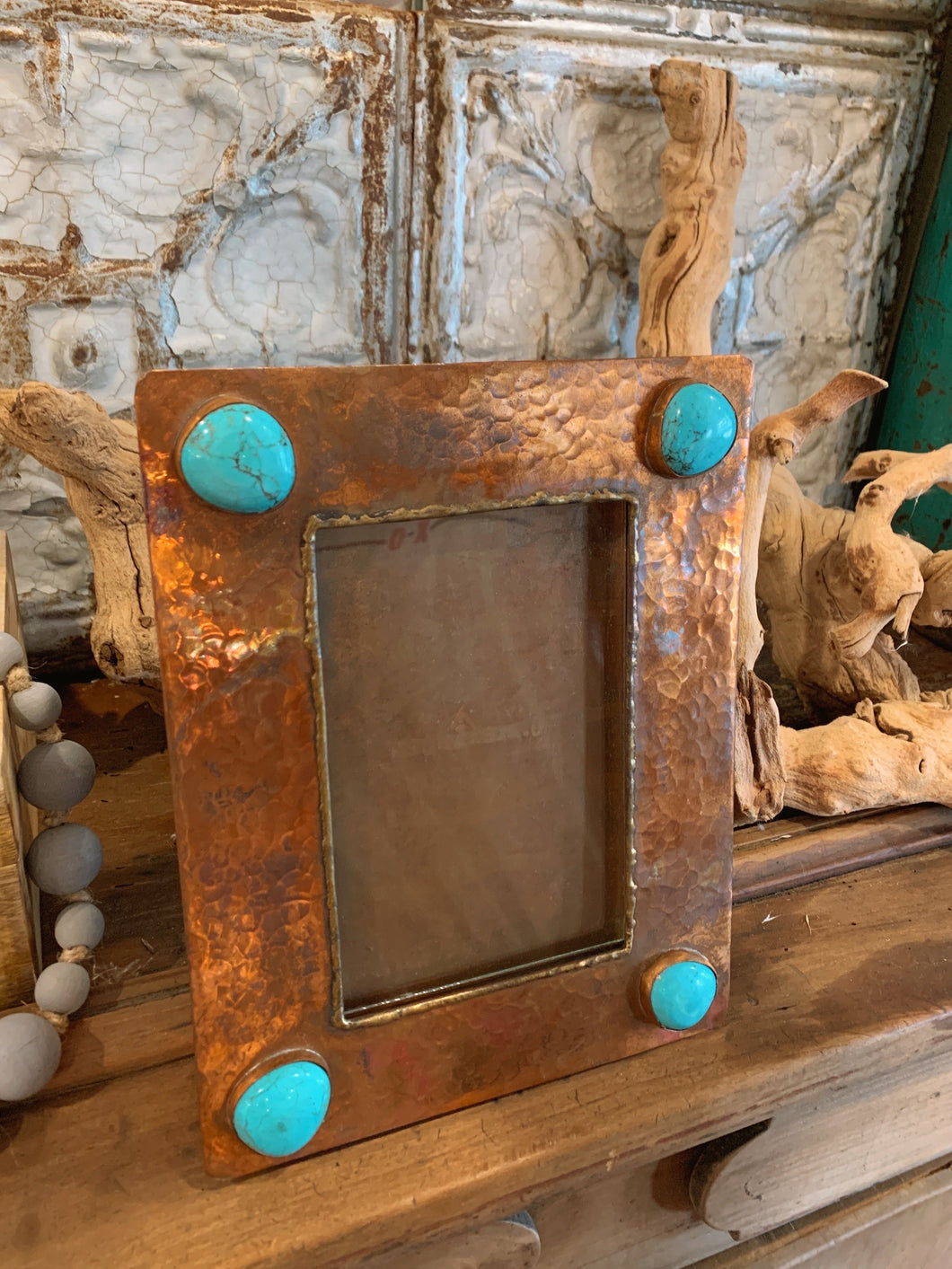 4x6 Copper Frame with Turquoise