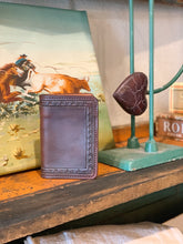 Load image into Gallery viewer, Tooled Leather Card Holder