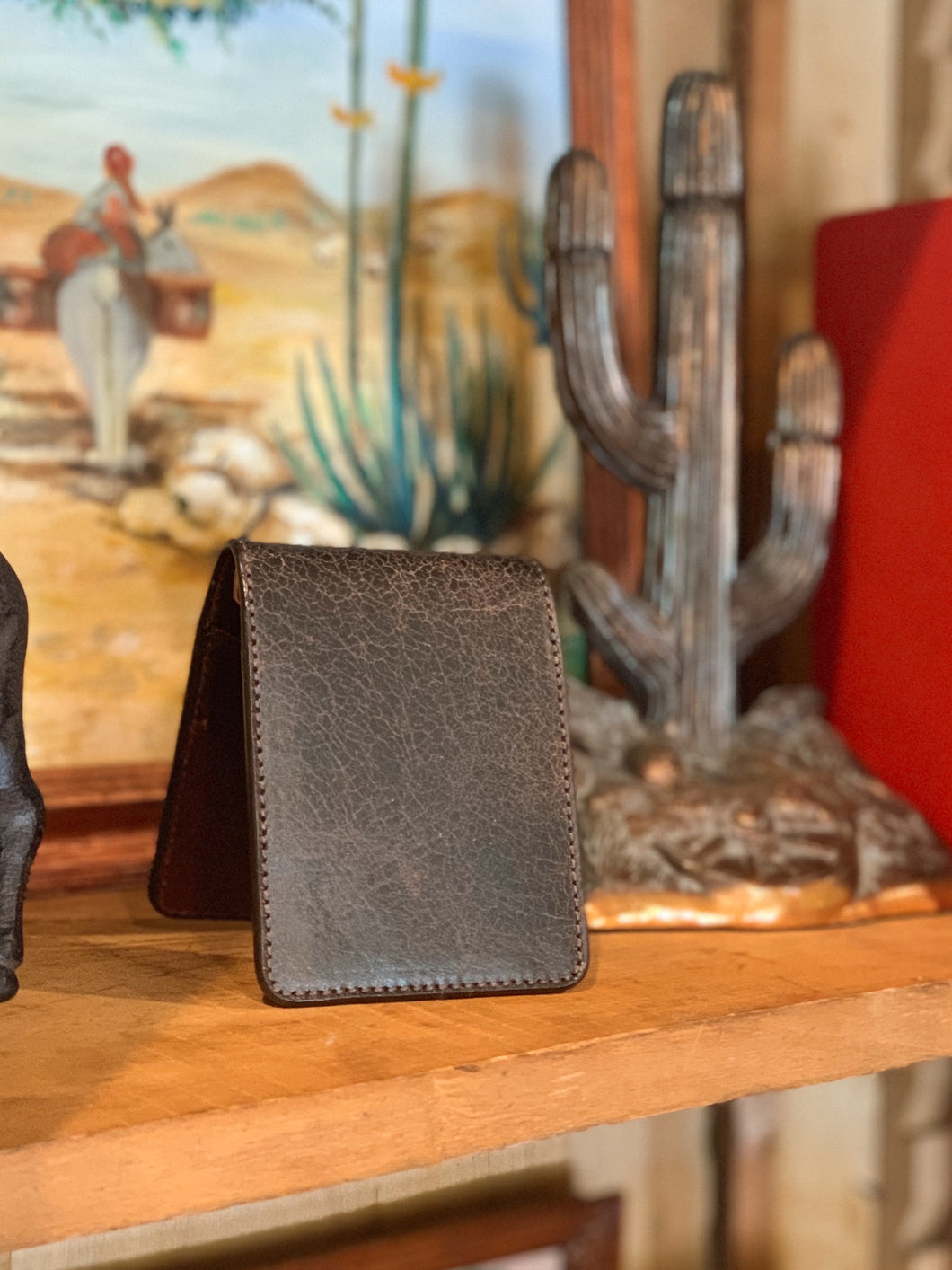 Antique Leather Front Pocket Wallet