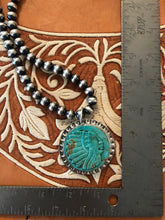 Load image into Gallery viewer, Turquoise Indian Pendant