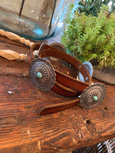 Load image into Gallery viewer, Turquoise Concho Belt