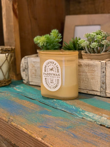 Paddywax Worn Leather & Smoke Candle