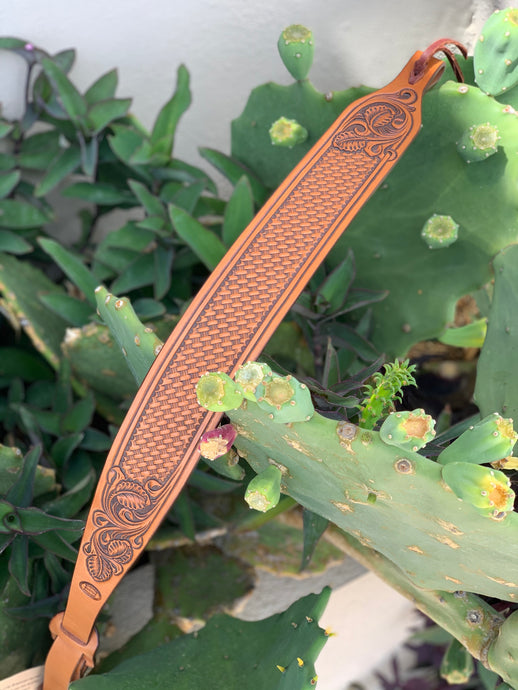 Tooled Leather Rifle Sling