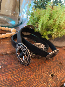 Black Boho Concho Belt